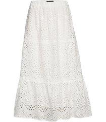 abelina laurana skirt knälång kjol vit bruuns bazaar