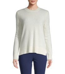 saks fifth avenue women's cashmere long-sleeve sweater - poinsettia - size xs