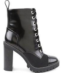 pauline faux leather combat booties