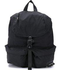 ader error drawstring buckle-fastening backpack - black