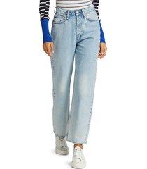 rag & bone women's maya high-rise ankle slim-fit jeans - agate - size 31 (10)