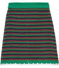 miu miu crocheted a-line skirt - green