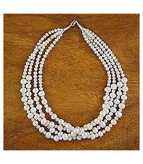 pearl strand necklace, 'sweet and white' (thailand)