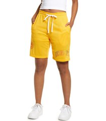 petals and peacocks inclusivity mesh shorts, size x-large - yellow