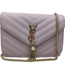 bolsa transversal la borsa lilã¡s - lilã¡s/roxo - feminino - dafiti