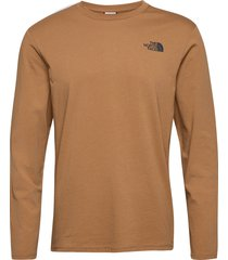 m l/s graphic tee t-shirts long-sleeved brun the north face