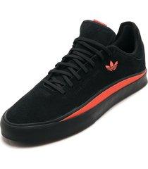 tenis lifestyle negro-naranja adidas performance sabalo
