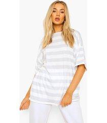 oversized gestreept t-shirt, grey