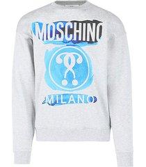 watercolor logo cotton sweatshirt