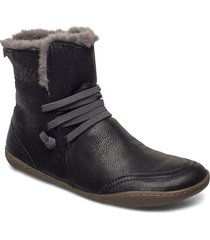 peu cami shoes boots ankle boots ankle boots flat heel svart camper