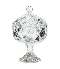bomboniere de cristal ecológico weave 11 cm x 17 cm - home style