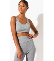 akira kickback ribbed knit crop top