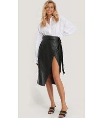 rut&circle pu-kjol - black