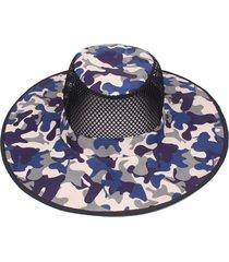 cappello estivo da uomo in cotone mimetico estivo con visiera cappellino pieghevole da pescatore con cappellino da arrampicata all'aperto