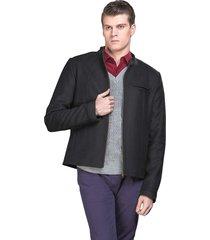 casaco belfast curto preto