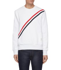 diagonal grosgrain stripe sweatshirt
