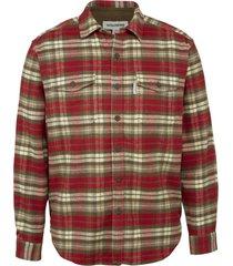 wolverine blake flannel shirt red plaid, size xxl