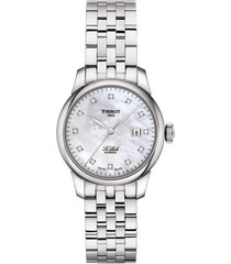 women's tissot le locle diamond bracelet watch, 29mm