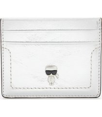 karl lagerfeld women's k/ikonik 3d pin card holder - silver