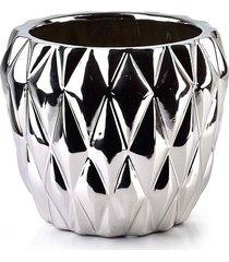 kwietnik osłonka ceramiczna srebrna