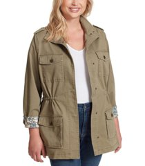 jessica simpson trendy plus size utility jacket