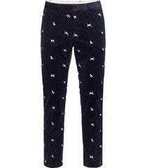 d1. mascot cord trousers chino broek blauw gant