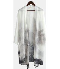 chiffon sottile leggera sun block camicia cappotto ansimante etnico cinese per gli uomini