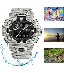 contra agua reloj smael militar camuflaje sports natación