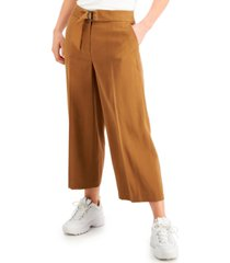 bar iii belted cropped pants, created for macy's
