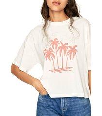 camiseta blanco hueso-naranja pepe jeans