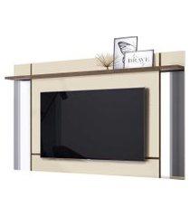 painel suspenso malibu p/ tv até 65 polegadas off white/madero belaflex móveis