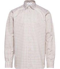 contemporary fit offwhite/brown texture twill shirt skjorta casual beige eton