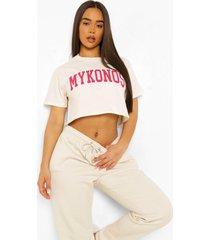 kort mykonos t-shirt, ecru