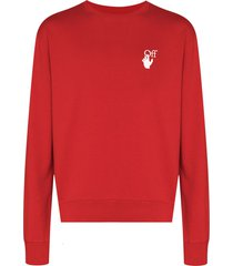 off-white pascal arrows crew-neck sweatshirt - red