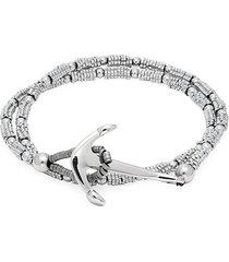 jean claude men's ronde stone double wrap bracelet - hematite