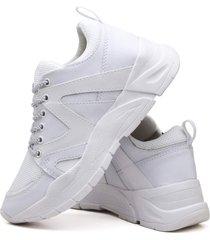 tãªnis sapatãªnis plataforma fashion dubuy 739el branco - branco - feminino - sintã©tico - dafiti