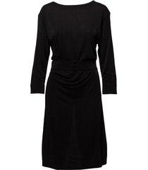 glitter v-neck back dress knälång klänning svart filippa k