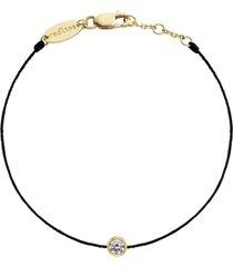 pure diamond black cord bracelet