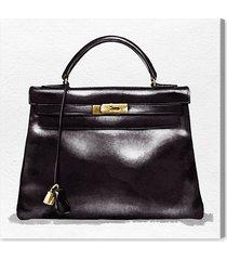 "oliver gal handbag canvas & wood art - size 30"" x 30"" x 1.5"""