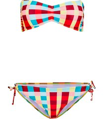 bikini a fascia sostenibile (set 2 pezzi) (arancione) - rainbow