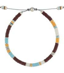 m.cohen disc-bead bracelet - purple