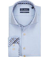 sleeve7 overhemd luxe visgraat blauw