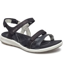 cruise ii shoes summer shoes flat sandals svart ecco