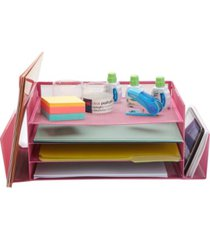 mind reader desk organizer with side storage compartments, great for office, school, teachers
