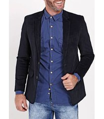 blazer veludo calcuta masculino azul