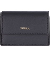 furla babylon small tri-fold leather wallet