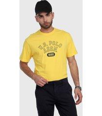 camiseta amarillo-negro us polo assn