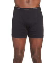 men's nordstrom 3-pack supima cotton boxer briefs, size 2xl - black