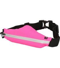 pochete oxer running belt - rosa/preto