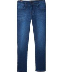 calça dudalina jeans blue tank 3d masculina (jeans escuro, 52)